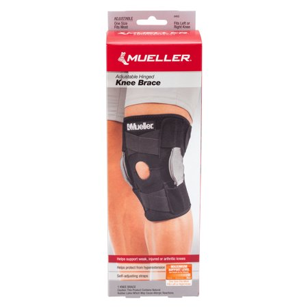 Mueller Knee Brace Adjustable Hinged Maximum Support - 1 CT