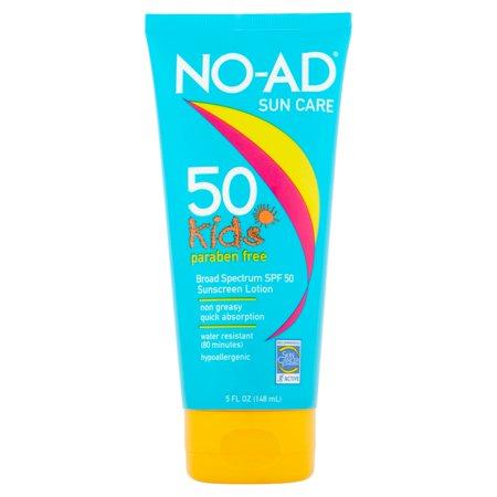No Ad Sun Care Kids Broad Spectrum Spf 50 Sunscreen Lotion 5Fl Oz