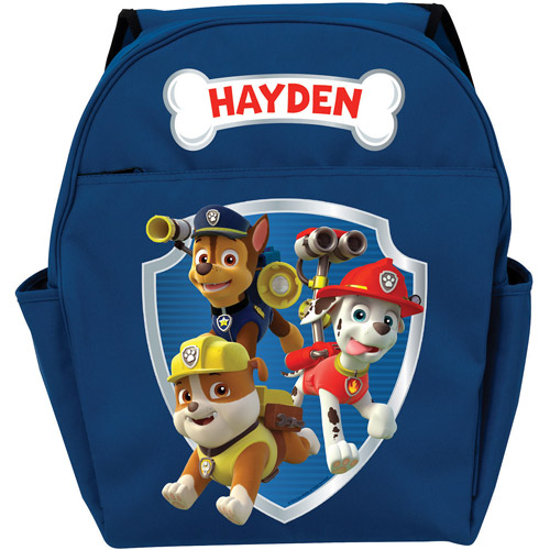 Personalized PAW Patrol Ready for Adventure Blue Toddler Backpack