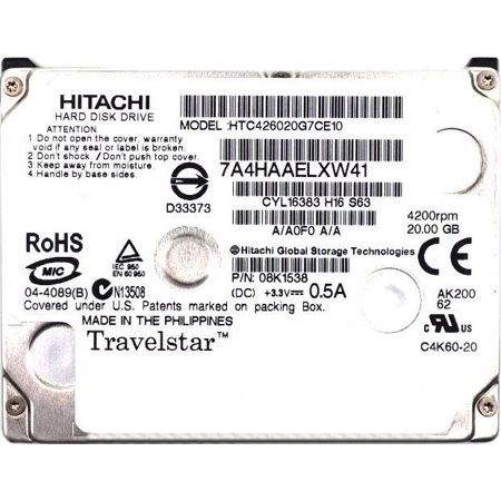 HTC426020G7CE10 08K1538 Hitachi Travelstar C4K60 20GB 1.8