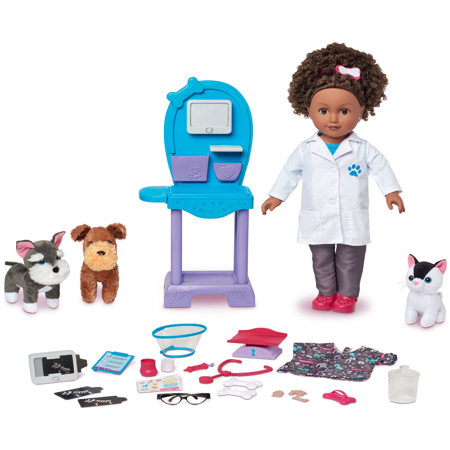 "My Life As 18"" Doll for the Year Vet Doll Play Set, African American"