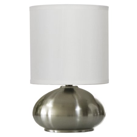 Touch Table Lamps Set of 2 with On/ Off Touch Sensor (2-pack) Brushed Nickel 1-Pack (Nickel)