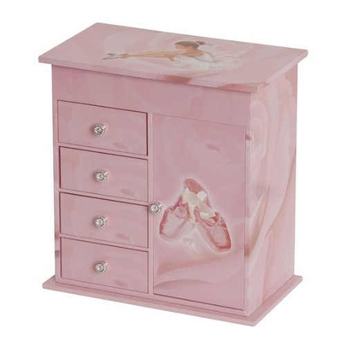 Mele Callie Girls Pink Musical Ballerina Jewelry Box