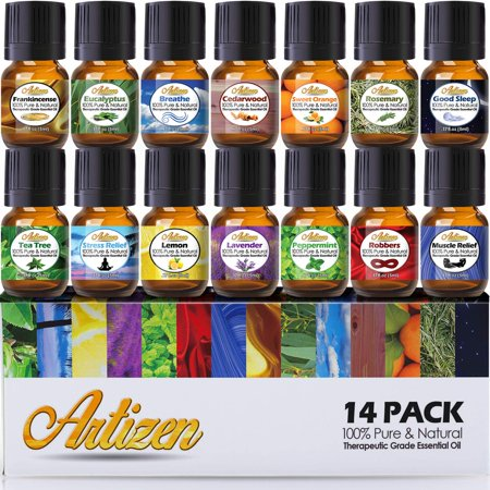 Artizen Aromatherapy Top 14 Essential Oil Set (100% PURE & NATURAL) Therapeutic Grade Essential Oils - All of Our Most Popular Scents and Best Essential Oil