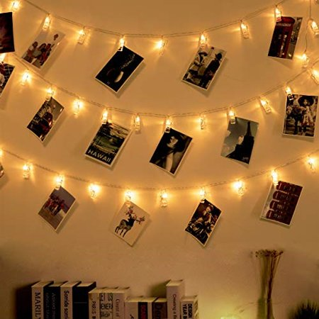 Ohbingo 30 Led Photo Clips String Lights 12ft Usb Operated Twinkle Fairy Lights With Clips For Pictures Board Cards Artwork Hanging Lights For