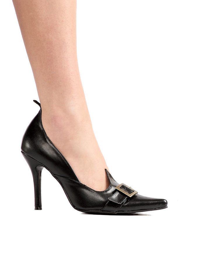 Ellie WITCH PUMP with BUCKLE STRAP stietto heel cushioned foot bed Cosplay