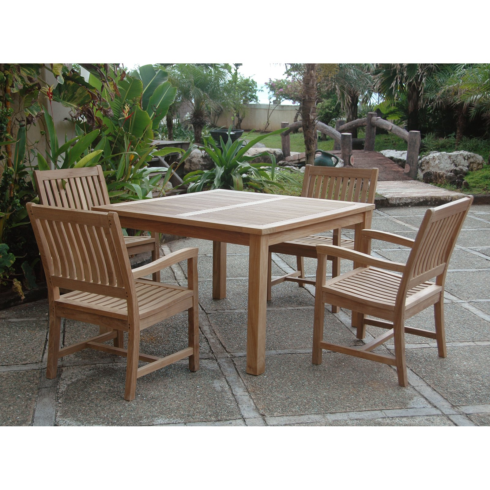 Anderson Teak Rialto 4 Person Teak Patio Dining Set Walmart Com