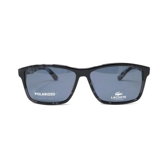 5ed90de00e4 Lacoste - LACOSTE Polarized Sunglasses L705SP 002 Black Rectangle ...