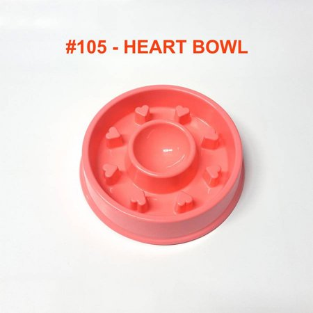 Nambe Heart Bowl (Alpha Dog Series Fun Slow Feeder Bowl - HEARTS (PINK) )
