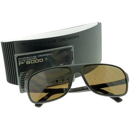 9949fa1c6227 Porsche - P8554-D Rectangular Men s Grey Frame Brown Lens Genuine  Sunglasses NWT - Walmart.com