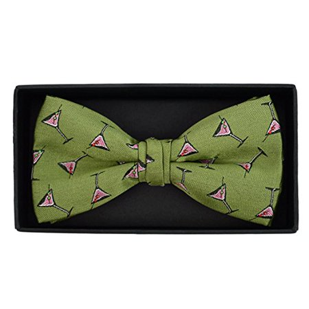 Men's Martini Glass Cocktail Novelty Bow Tie
