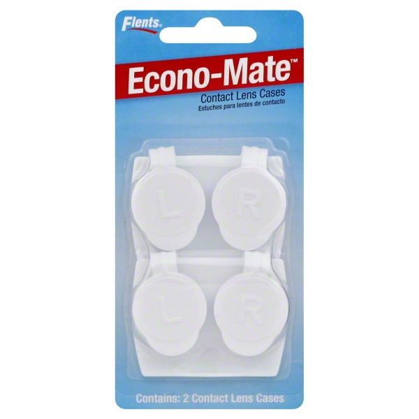 Apothecary Flents Econo-Mate Contact Lens Cases, 2 ea