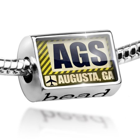 Bead Airportcode AGS Augusta, GA Charm Fits All European Bracelets](Party City Augusta Ga)