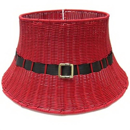 Shadloo Industrial 28-YCR00144S Christmas Tree Base, Red Wicker, 26 x 13-In.