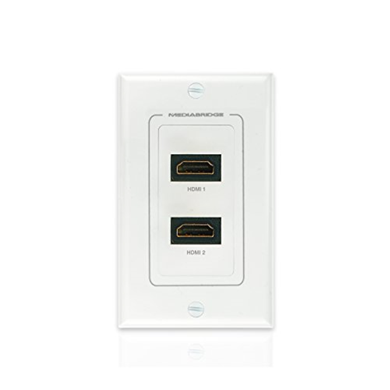 wall plate with hdmi 2 port by mediabridge latest version supports