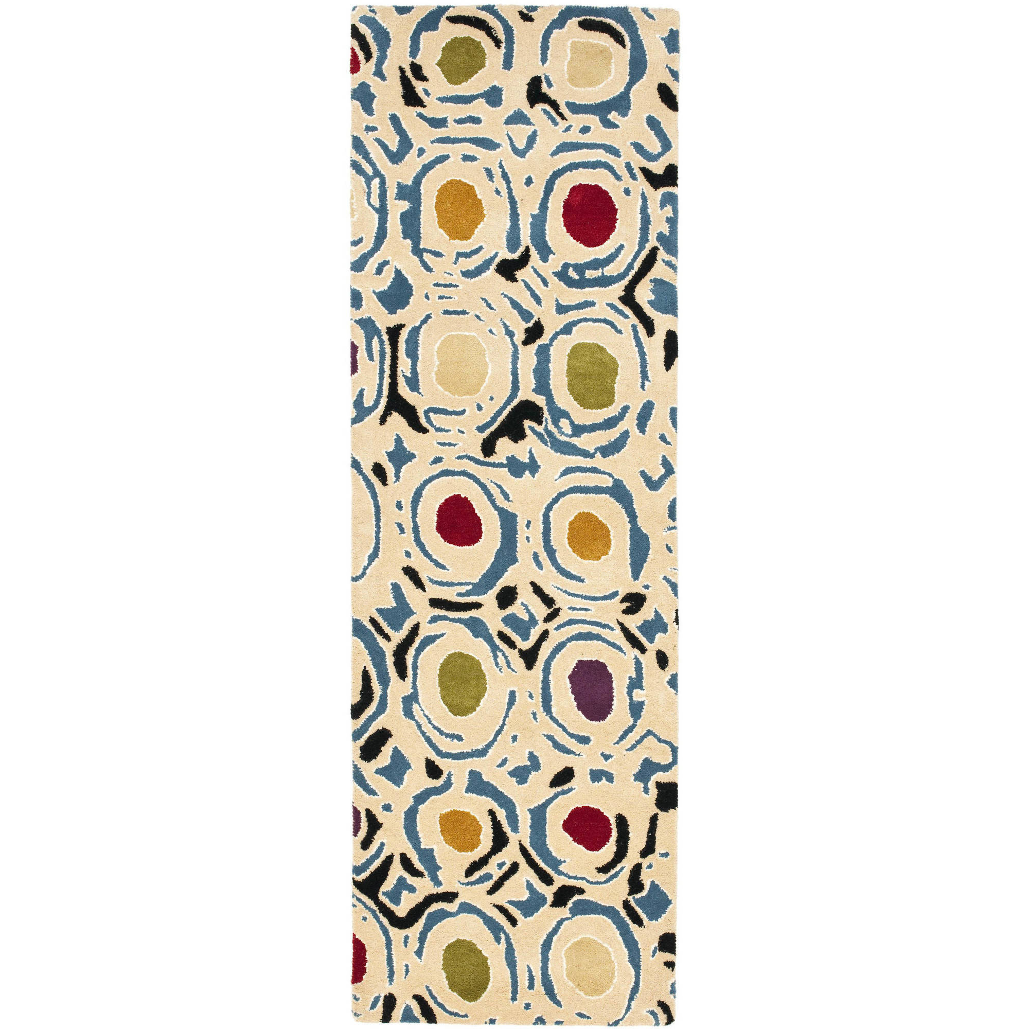 Safavieh Soho Venice Wool Runner Rug, Ivory/Multicolor