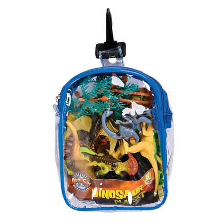 Realistic Dinosaur Playset: 12 Piece Toy set in Clip Bag for Play on the GO!, Dinosaur Set Mini Figure Set in Clip Bag By RINCO](Dinosaur In A Suit)