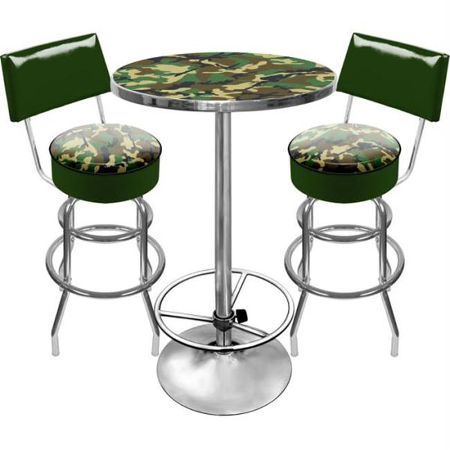 HUNT9900-CAMO Hunt Camo Gameroom Combo 2 Stools with Back and Table