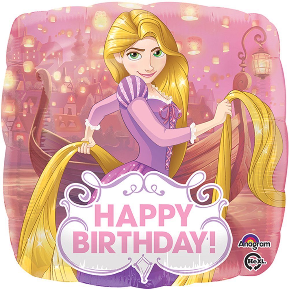 "Disney Princess Rapunzel Happy Birthday Authentic Licensed Theme Foil / Mylar Balloon 18"" ( Each)"