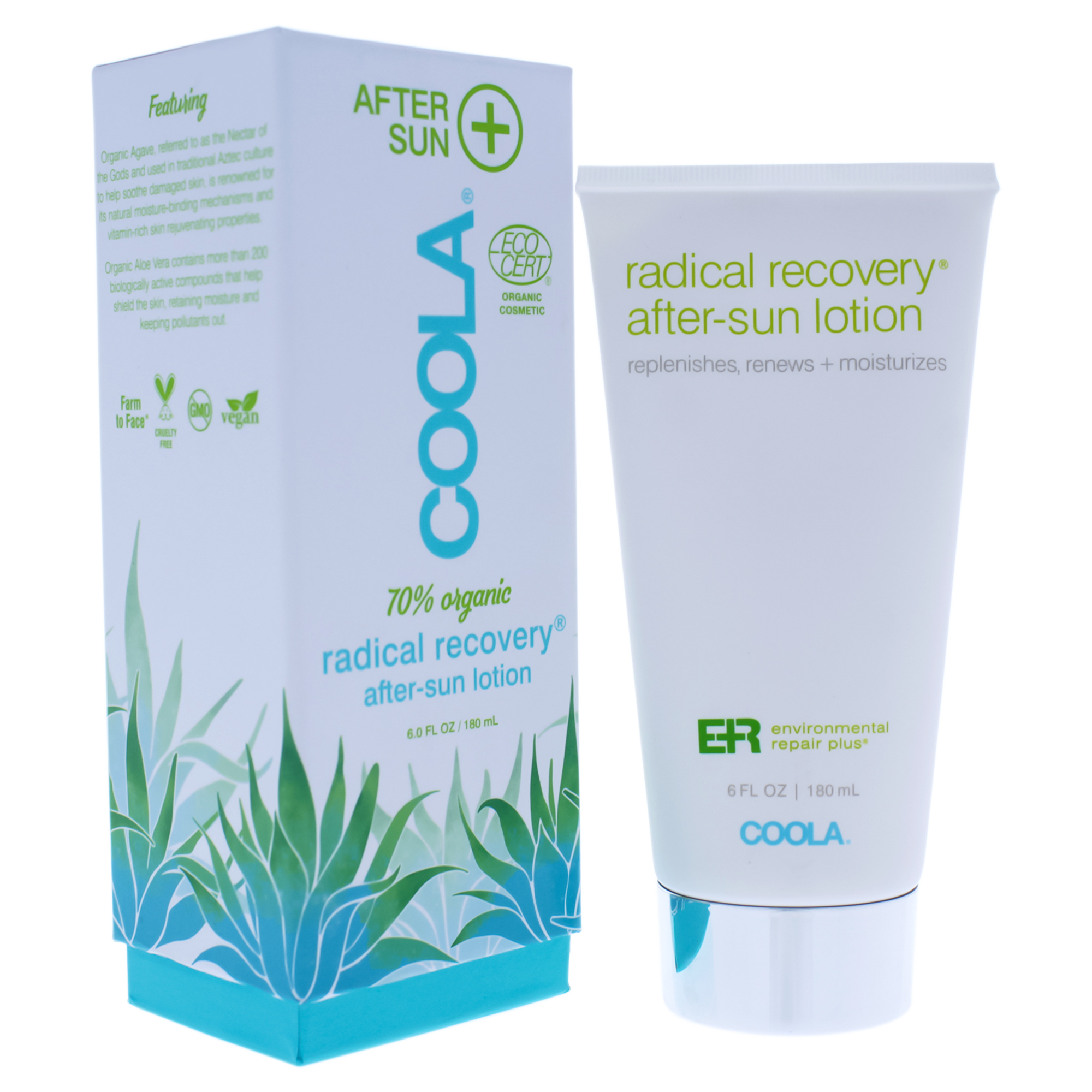 Coola Radical Recovery After-Sun Lotion Moisturizer - 6 oz