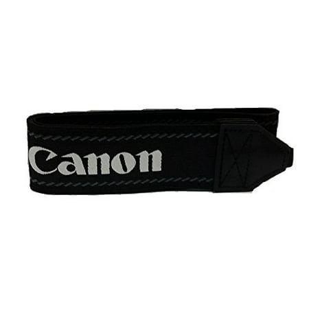 Genuine Original OEM Canon Neck Strap for Canon EOS and EOS Rebel Series DSLR Cameras - Wide