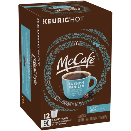 - McCafe French Vanilla Light Roast Coffee K-Cup Pods, 12 count, 4.12 Oz