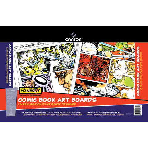 Canson Fanboy Comic Book Art Board, 11in x 17in, 24-Sheet Pack