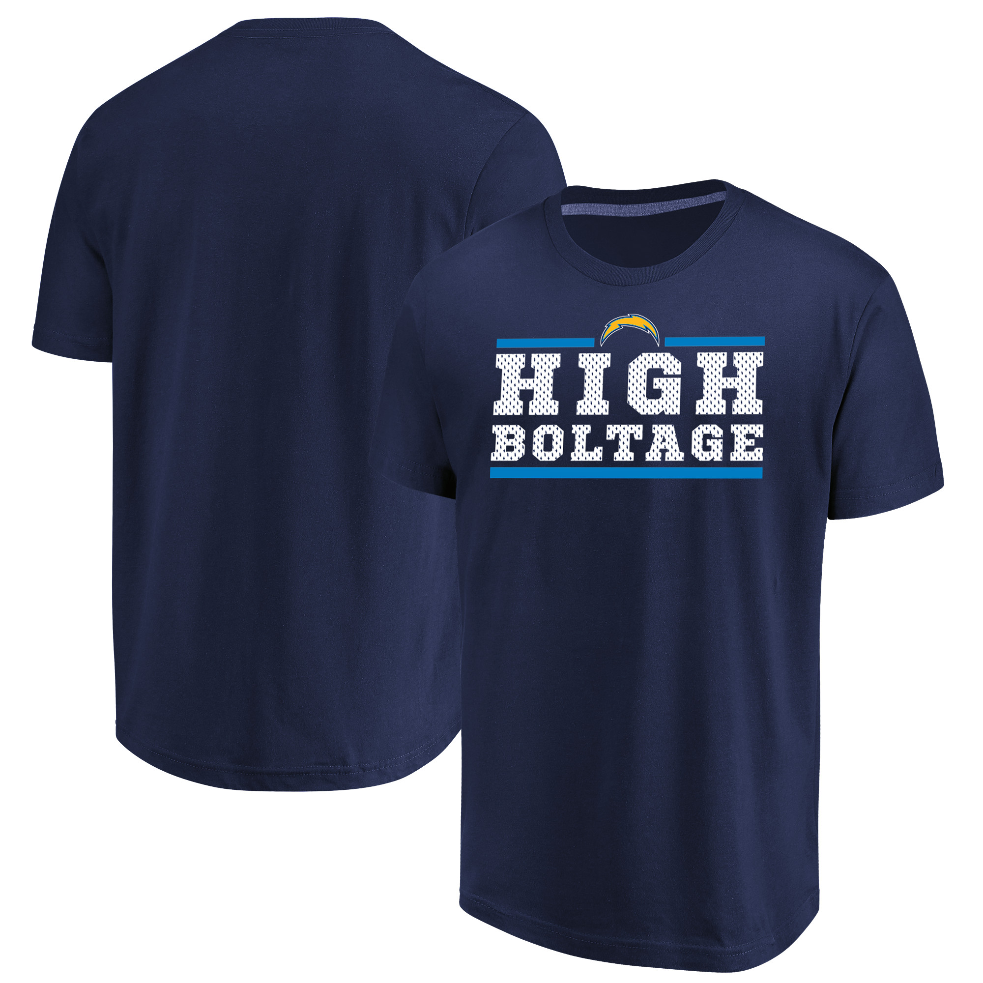 Los Angeles Chargers Majestic Big & Tall Safety Blitz T-Shirt - Navy