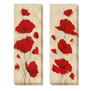 Artistic Home Gallery 'Favorite Blossoms' by Tava Studios 2 Piece Painting Print on Wrapped Canvas Set
