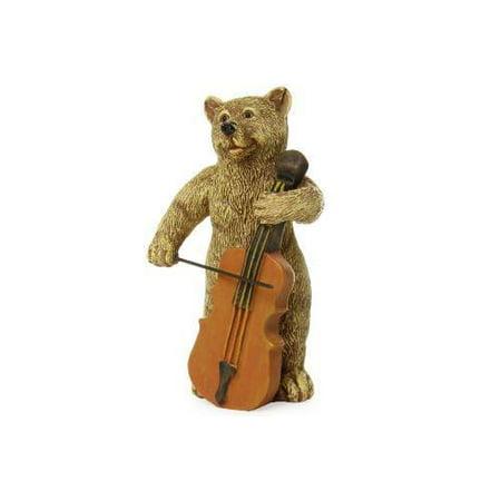 Fairy Garden - Bear Playing Cello - Miniature ()