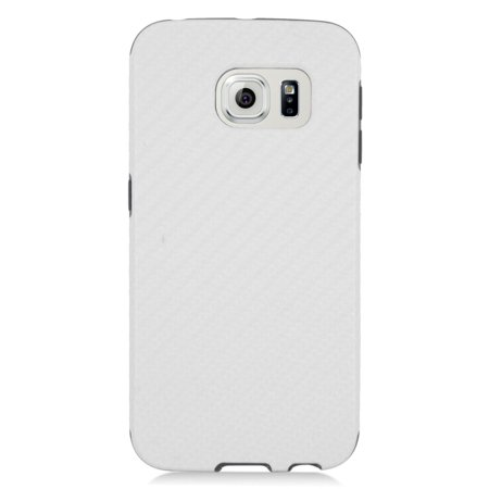 Insten Hard Dual Layer Hybrid Case with stand For Samsung Galaxy S6 Edge - White/Black - image 3 of 3
