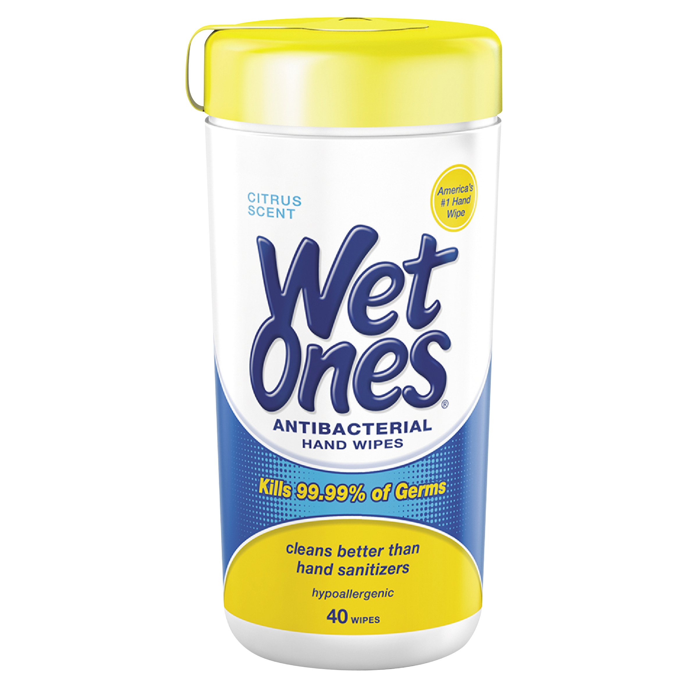 Wet Ones Antibacterial Hand Wipes Citrus Scent Canister - 40 Count