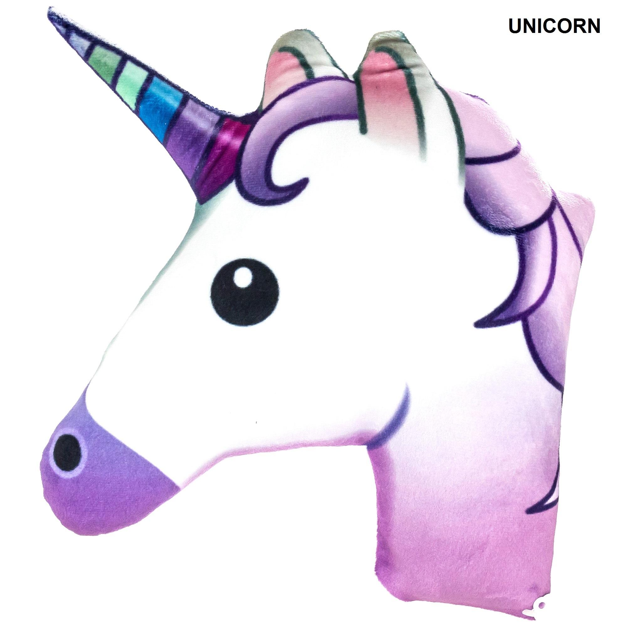 Emoji Unicorn Pillow