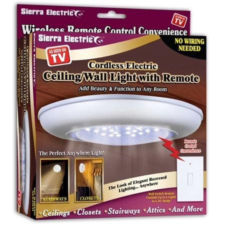 Wall Light Bulb As Seen On Tv : As Seen on TV Ceiling/Wall Light W/ Remote Case Pack 24 - Walmart.com