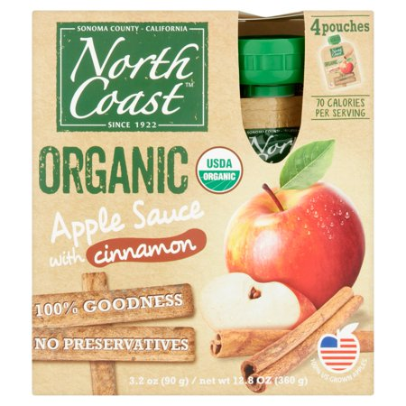 North Coast Applesauce Cnn 4Pk Pch Or,12.8 Oz (Pack Of 6) ()