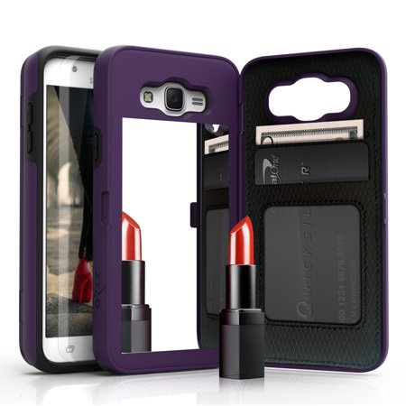 huge discount 17a14 90d76 Samsung Galaxy J7 Case, [Vettore by Zizo] All-in-One Wallet Case with  [Galaxy J7 Screen Protector] Built-In Mirror and [Kickstand] - Galaxy J7  J700