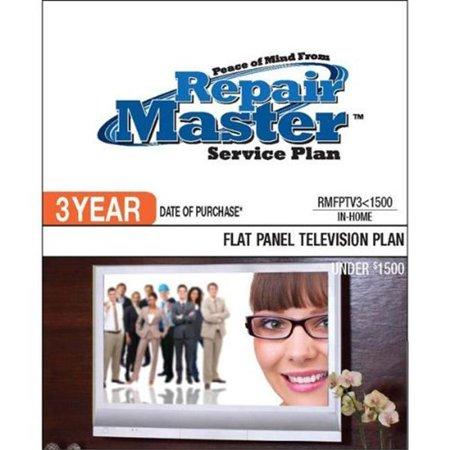 RepairMaster RMFPTV3U1500 3 Year DOP - Under 1500 Dollars Flat Panel TV (Best Tv For 1000 Dollars)