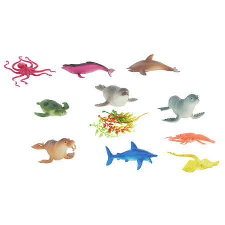Ocean, Aquatic, Marine Toy Animal Playset, Sea Life Creatures for Children