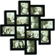 Homebeez 12 Slot Wood Collage Picture Frame