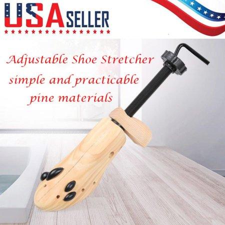 1 Piece Wooden Shoes Hanger Tree Shaper Rack Wood Adjustable Flats Pumps Boots Expander Trees Size S/M/L Shoe Hanger ()