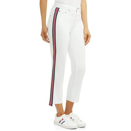 Women's Maddy Jean with Side Stripe (Spandex Striped Jeans)