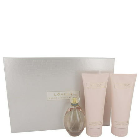Sarah Jessica Parker Lovely Gift Set -- 3.4 oz Eau De Parfum Spray + 6.7 oz Body Lotion + 6.7 oz Shower Gel for Women Shower Gel oz