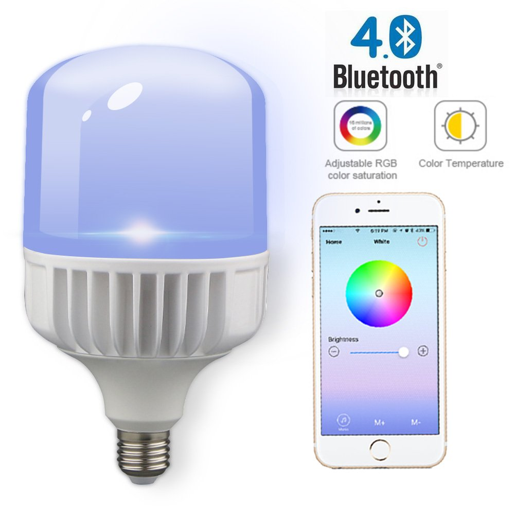iphone controlled lighting smartphone shyu 12w bluetooth smart led flood light bulbsmartphone controlled dimmable multicolored color changing lights