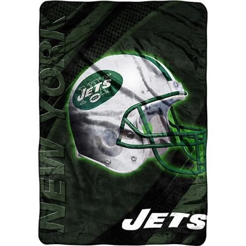 NFL New York Jets Micro Raschel Blanket