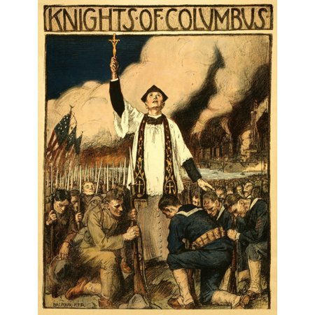 WWI Knights Of Columbus Balfour Ker Canvas Art - (24 x 36)