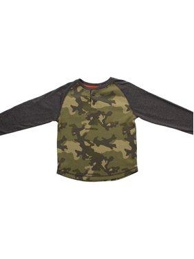 Bear Camp Waffle Camo Henley (Little Boys and Big Boys)