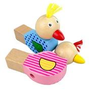 Cartoon Bird Whistle Baby Kids Wooden Musical Instruments Toy Random Color