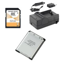 Nikon Coolpix S5300 Digital Camera Accessory Kit includes: SDENEL19 Battery, SDM-1541 Charger, SD32GB Memory Card