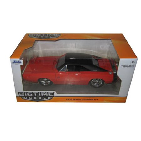 New Orange Rubber - 1970 Charger R/T Orange 1/24 by Jada 97593, Rubber tires. Brand new box. Detailed interior, exterior. Made of diecast with some plastic parts..., By Dodge From USA