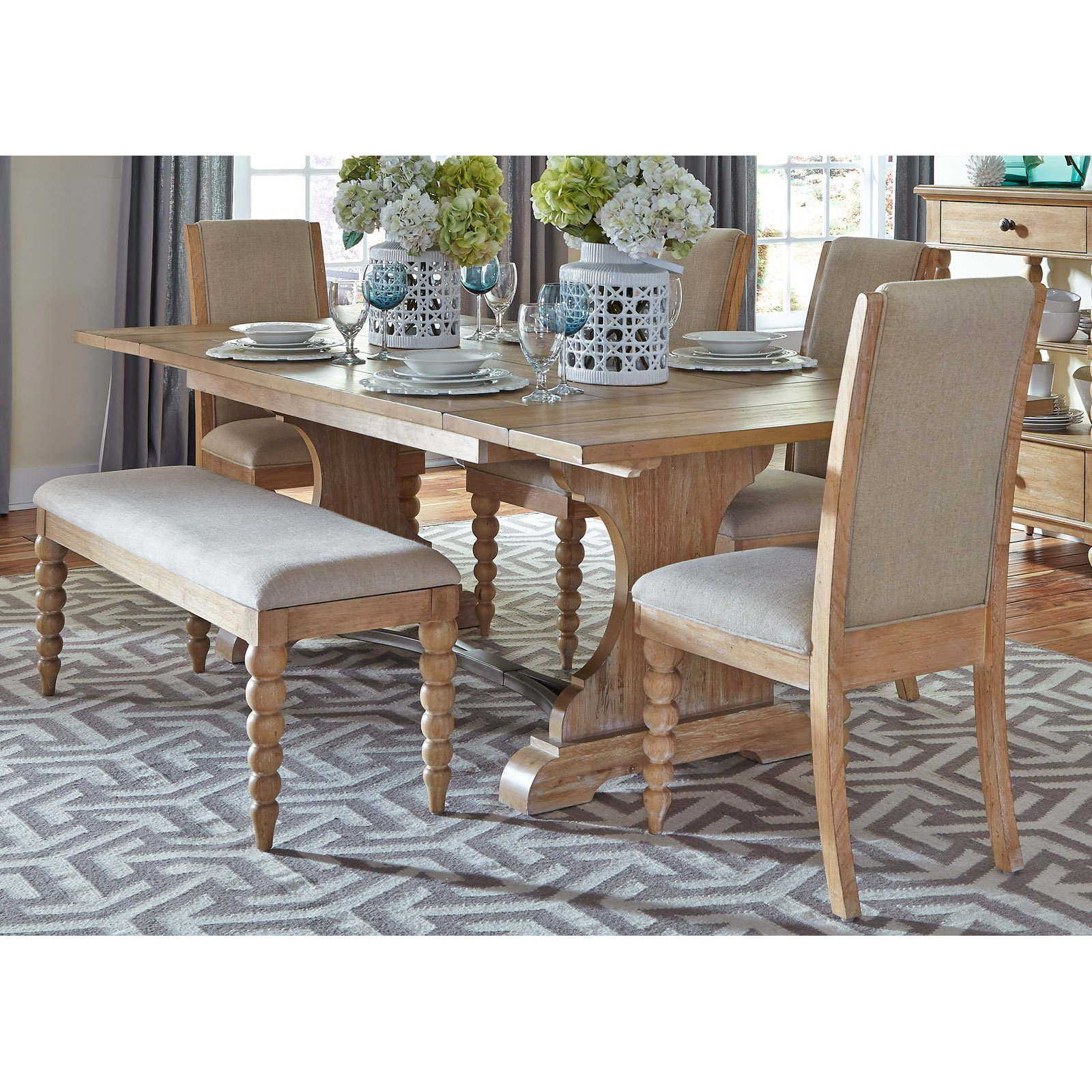 Liberty Furniture Industries Harbor View Trestle Dining Table